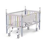 cama hospitalar / manual / de altura fixa / com rodízios