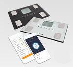 analisador de composição corporal para medição da massa gorda / com visor LCD / plataforma / com Bluetooth