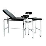 mesa para exame ginecológico / manual / de altura regulável / com encosto regulável