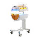 aparelho de fototerapia neonatal / com rodízios / com luz azul