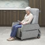 cadeira de exame geral / elétrica / com rodízios / reclinável